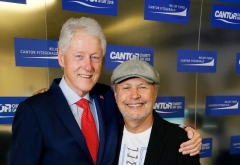 Former President Bill Clinton with Billy Crystal in New York City, Sept. 11, 2019. (Photo by Paul Morigi/Getty Images for Cantor Fitzgerald)