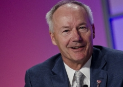 Asa Hutchinson, a former U.S. representative, is now the Republican governor of Arkansas. (Photo by Kris Connor/Getty Images)