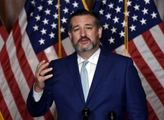 Sen. Ted Cruz (R-Texas) says let the election challenges be decided by the courts. (Photo by OLIVIER DOULIERY/POOL/AFP via Getty Images)