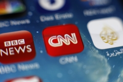 Pictured is the CNN app on a smartphone. (Photo credit: Hoch Zwei/Corbis via Getty Images)