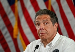 New York Gov. Andrew Cuomo speaks at a COVID-19 briefing in Brooklyn last summer. (Photo by Angela Weiss/AFP via Getty Images)