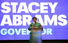 Stacey Abrams attends a celebration of women for Abrams at The Gathering Spot on September 22, 2018 in Atlanta, Georgia. (Photo by Prince Williams/WireImage)