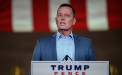 Former ambassador to Germany Richard Grenell addresses the Republican National Convention in August. (Photo by Nicholas Kamm/AFP via Getty Images)