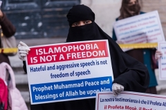 Muslims protest near the French Embassy in Rome against the publication of Mohammed cartoons in France. (Photo by Stefano Montesi/Corbis/Getty Images)
