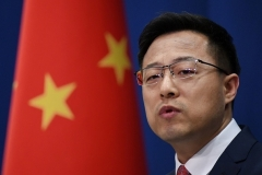 Chinese foreign ministry spokesman Zhao Lijian. (Photo by Greg Baker/AFP via Getty Images)