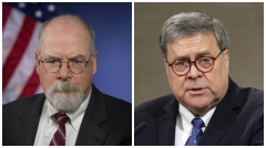 U.S. Attorney John Durham, left, and U.S. Attorney General William P. Barr.  (Getty Images)