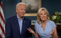 President-elect Joe Biden and Dr. Jill Biden sit for an interview with a very deferential Stephen Colbert. (Photo: Screen capture)