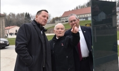 Then-U.S. Ambassador to Germany Richard Grenell, left, visits the Flossenbürg Nazi concentration camp in Bavaria in April 2019. (Photo: U.S. Embassy Berlin)