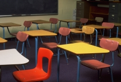 Featured is an empty classroom. (Photo credit: Jeffry W. Myers/CORBIS/Corbis via Getty Images)