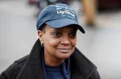 Chicago Mayor Lori Lightfoot  (Photo by KAMIL KRZACZYNSKI/AFP via Getty Images)