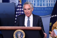 White House coronavirus adviser Dr. Scott Atlas speaks during a press conference in the Brady Press Briefing Room at the White House in Washington, DC, September 18, 2020. (Photo by SAUL LOEB/AFP via Getty Images)