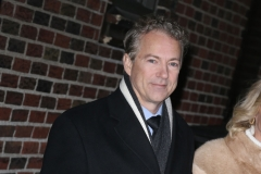 Senator Rand Paul R-KY departs after his taping of 'The Late Show With Stephen Colbert' at Ed Sullivan Theater on January 31, 2018 in New York City. (Photo by Karl Moor/Getty Images)