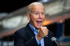 Joe Biden gives a campaign speech. (Photo credit: ROBERTO SCHMIDT/AFP via Getty Images)