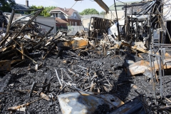 Pictured is the aftermath of a riot in Kenosha, Wisc. (Photo credit: Andrew Lichtenstein/Corbis via Getty Images)