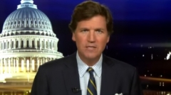 Fox News host Tucker Carlson delivers a monologue. (Photo credit: YouTube/Fox News)