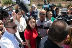 Rep. Alexandria Ocasio-Cortez at a Border Patrol facility housing children in Clint, Texas, July 1, 2019. (Photo by Christ Chavez/Getty Images)