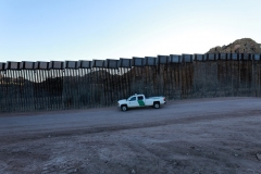 President Trump's border wall was still under construction on January 12, 2021, as seen in Sasabe, Arizona. (Photo by Micah Garen/Getty Images)