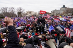 """Crowds gather outside the U.S. Capitol for a """"Stop the Steal"""" rally on January 6, 2021 in Washington. This was before some in the crowd stormed the building. (Photo by Robert Nickelsberg/Getty Images)"""
