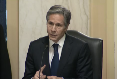 Secretary of State nominee Tony Blinken speaks during his confirmation hearing before the Senate Foreign Relations Committee on Tuesday. (Photo: Screen capture)