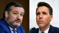 Republican Sens. Ted Cruz (Texas), left, and Josh Hawley (Mo.).  (Getty Images)