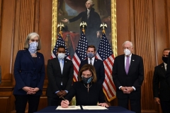 Democrats launch the second impeachment of Donald Trump (Photo by Brendan Smialowski/AFP via Getty Images)