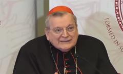 Cardinal Raymond Leo Burke.  (Screenshot)