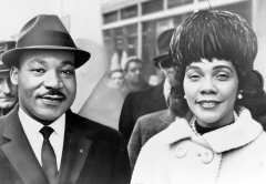 Dr. Martin Luther King and his wife Coretta Scott King pose for a portrait in 1964. (Photo credit: Library of Congress/Getty Images)