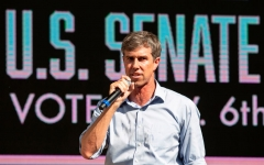 US Representative Beto O'Rourke (D-TX) speaks during a campaign rally in Plano, Texas, on September 15, 2018. - O'Rourke is the Democratic challenger for the Senate seat currently held by Senator Ted Cruz (R-TX). (Photo by LAURA BUCKMAN/AFP via Getty Images)