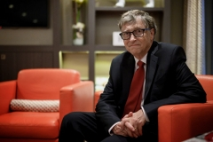 Microsoft founder, Co-Chairman of the Bill & Melinda Gates Foundation, Bill Gates, poses for a picture on October 9, 2019, in Lyon, central eastern France, during the funding conference of Global Fund to Fight AIDS, Tuberculosis and Malaria. (Photo by JEFF PACHOUD/AFP via Getty Images)