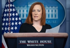 White House Press Secretary Jen Psaki speaks during a press briefing in the Brady Press Briefing Room of the White House in Washington, DC, February 1, 2021. (Photo by SAUL LOEB/AFP via Getty Images)