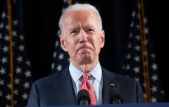 Joe Biden speaks about COVID-19 during a press event. (Photo credit: SAUL LOEB/AFP via Getty Images)