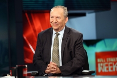 Former Treasury Secretary & White House Economic Advisor Larry Summers is interviewed by FOX Business' Maria Bartiromo. (Photo credit: Robin Marchant/Getty Images)