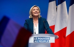 National Rally leader Marine Le Pen. (Photo by Chesnot/Getty Images)