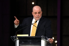 Inductee Mark Levin speaks on stage during Radio Hall Of Fame 2018 Induction Ceremony. (Photo credit: Michael Kovac/Getty Images for Radio Hall of Fame)