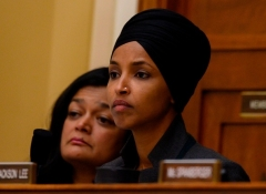 Democratic Rep. Ilhan Omar of Minnesota.  (Photo by Andrew Cabellero-Reynolds/AFP via Getty Images)