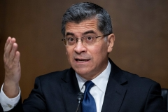 Xavier Becerra appears before the Senate Finance Committee hearing on his nomination to be secretary of Health and Human Services (HHS), on Capitol Hill in Washington, DC, on February 24, 2021. - If confirmed, Becerra would be the first Latino secretary of HHS. (Photo: MICHAEL REYNOLDS/POOL/AFP via Getty Images)