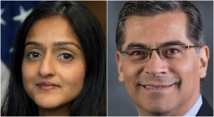 Vanita Gupta and Xavier Becerra, nominated by President Biden for executive branch positions.