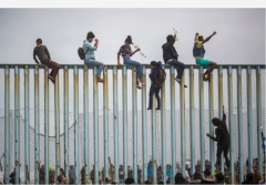 The U.S.-Mexico border at Tijuana, Mexico, April 29, 2018. (Photo by David McNew/Getty Images)