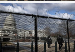 A fence was erected around the U.S. Capitol after the Jan. 6, 2021 riot there. (Photo by Chip Somodevilla/Getty Images)