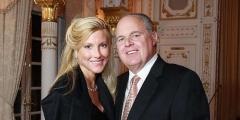 Rush Limbaugh and his wife, Kathryn Adams Rogers.  (Screenshot)