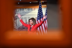 Speaker of the House Nancy Pelosi (D-Calif.) says the Democrats' .9 trillion COVID relief bill will pass the House without Republican support, if it comes to that.(Photo by NICHOLAS KAMM/AFP via Getty Images)