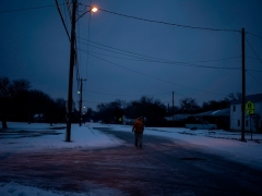 Millions of people were still without power on February 17 in Texas, the oil and gas capital of the United States. (Photo by MATTHEW BUSCH/AFP via Getty Images)