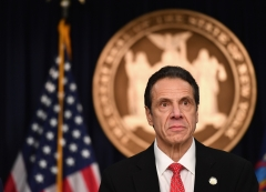 Gov. Andrew Cuomo speaks during a coronavirus press conference. (Photo credit: ANGELA WEISS/AFP via Getty Images)