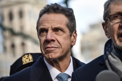 Governor Andrew Cuomo (NY/D) participates at the NYC Jewish Solidarity March. (Photo credit: Steven Ferdman/Getty Images)