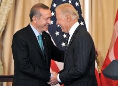 Then-Vice President Joe Biden and Turkey's Recep Tayyip Erdogan in 2013. (Photo by Mladen Antonov/AFP via Getty Images)