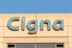 Featured is the outside of Cigna corporate offices in Glendale, Calif. (Photo credit: AaronP/Bauer/Griffin/GC Images)