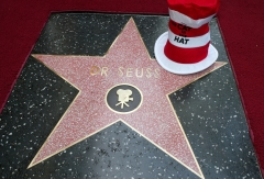 """Pictured is the Dr. Seuss star with which Theodor """"Dr. Seuss"""" Geisel was honored posthumously on the Hollywood Walk of Fame. (Photo credit: Chris Polk/FilmMagic)"""