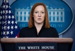 White House Press Secretary Jen Psaki speaks during a press briefing on March 10, 2021, in the Brady Briefing Room of the White House in Washington, DC. (Photo by MANDEL NGAN/AFP via Getty Images)
