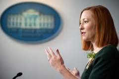 White House Press Secretary Jen Psaki speaks during the daily press briefing at the White House in Washington, DC, on March 17, 2021. (Photo by JIM WATSON/AFP via Getty Images)