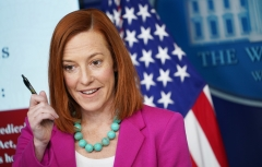 White House Press Secretary Jen Psaki holds a press conference. (Photo credit: MANDEL NGAN/AFP via Getty Images)